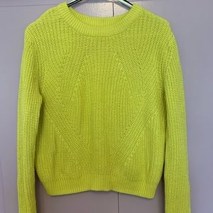 Chartreuse Knit Sweater